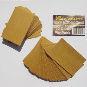 100 x Kraft Blank Business Cards - 270gsm Brown Kraft Card